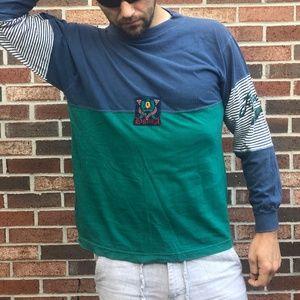 LAGUNA ROWING T-shirt Long Sleeve M Blue Green